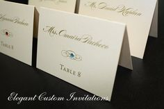 place cards indicate meal choice - Google Search