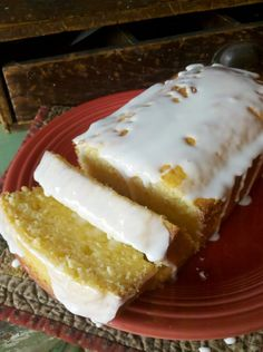 Jenn's Random Scraps: Just Like Starbucks Lemon Loaf. Starbucks lemon loaf, 1-1/2 C flour, 1/2 t baking soda, 1/2 t bp, 1/2 t salt, 3 eggs, 1 cup sugar, 2 T softened butter 1 t vanilla, 1 t lemon extract, 1/3 C lemon juice, 1/2 C vegetable oil. Icing, 1 C + 1 T powdered sugar, 2 T milk, 1/2 t lemon extract. Pour into a well-greased 9 x 5 loaf pan and bake @ 350°for 45 minutes. Cool & Ice.