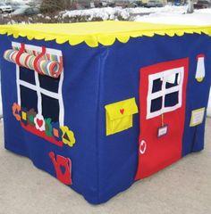 Neighborhood Cafe Card Table Playhouse,