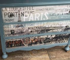 Upcycled Dresser with French Decal