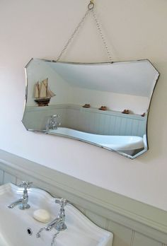 Bathroom Mirrors Vintage vintage large bevelled edge wall mirror frameless mirror lovely