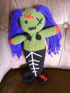 Crochet zombie mermaid