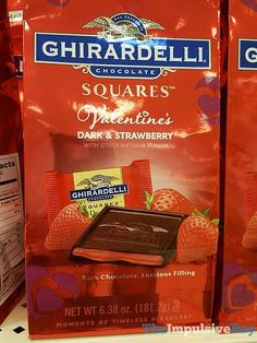 Ghirardelli Limited Edition Valentine's Dark & Strawberry Squares