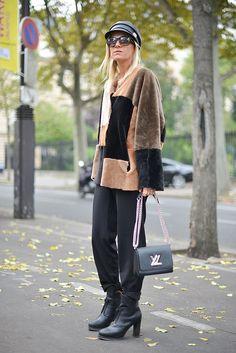 #CelineAagaard patchwork fur. Paris