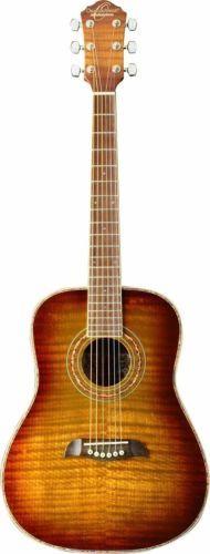 #Guitars #Musical Oscar Schmidt OG1FYS - Flame Yellow Sunburst 3/4 Dreadnought Acoustic Guitar #Christmas #Gifts