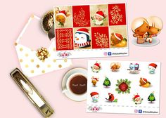 Cute Christmas Stickers Christmas Planner Sticker Christmas