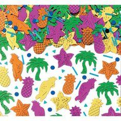 Confettis thème tropical