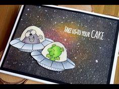 Space or Galaxy Background with Gerda Steiner Designs Birthday Card - YouTube