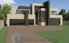 4 bedroom modern house design for sale at an affordable price. Explore modern house plan design, free house designs, modern home design plans with pictures. Tuscan House Plans, Modern House Floor Plans, House Plan With Loft, House Plans With Photos, Contemporary House Plans, Modern House Design, Modern Contemporary, Flat Roof House Designs, 4 Bedroom House Designs