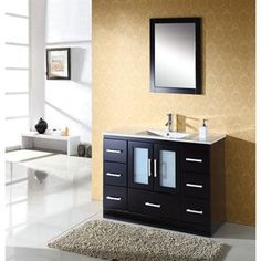 "Check out the Virtu USA MS-6748 Zola 48"" Single Sink Bathroom Vanity in Espresso - Countertop Included priced at $1,199.00 at Homeclick.com."
