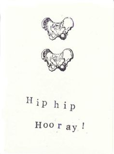 Funny Skeleton Anatomy Card - Hip Hip Hooray,Say congratulations with a little dry, medical humor! Radiology Humor, Medical Humor, Nurse Humor, Physical Therapy Humor, Physical Therapist, Occupational Therapy, Anatomy Humor, Medical Anatomy, Medical Student