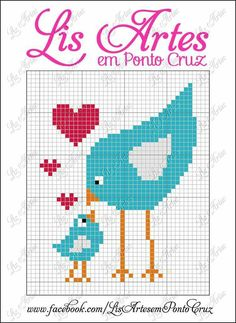 Bird cross stitch.