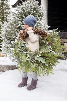 ✴Buon Natale e Felice Anno Nuovo✴Merry Christmas and Happy New Year✴Gorgeous evergreen wreaths for winter or Christmas decorating. Natural Christmas, Noel Christmas, Green Christmas, Country Christmas, Winter Christmas, All Things Christmas, Christmas Wreaths, Christmas Crafts, Christmas Decorations