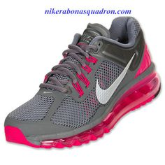 d44eb18fd93 Nike Air Max 2013 Womens Cool Grey Pink Force Wolf Grey 555363 006 Nike Air  Max