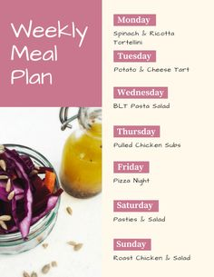 The BEST weekly family meal plans - totally bursting with great recipes that you'll love as much as the kids do and everything is easy to cook! Meal Planning Board, Family Meal Planning, Spinach And Ricotta Tortellini, Easy Dinner Recipes, Delicious Recipes, Lamb Stew, Sunday Roast, Easy Family Meals, Daisies