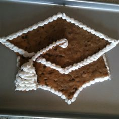Graduation cookie icing idea instead of full icing!