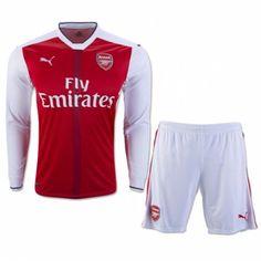 £19.99 Arsenal Kids Home Kit Long Sleeve 2016 2017