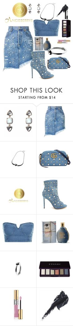 """""""Pearls"""" by st-edmundcollege ❤ liked on Polyvore featuring Forte Couture, Gucci, Diesel, By Terry, Yves Saint Laurent, Bobbi Brown Cosmetics, Forever 21 and Angieberrys"""