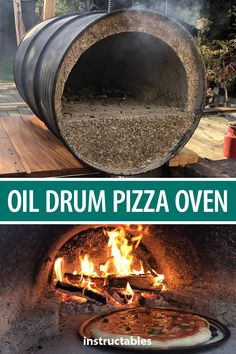 Build a backyard pizza oven from an old oil drum. #Instructables #cooking #workshop #outdoors #upcycle