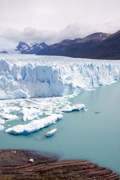 Glacier Moreno in Terra del Fuego Argentina. This is part of Los Glaciares National Park which is a recognized UNESCO World Heritage Site.