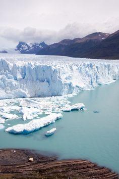 Glacier Moreno in Terra del Fuego Argentina. This is part of Los Glaciares National Park which is a recognized UNESCO World Heritage Site.