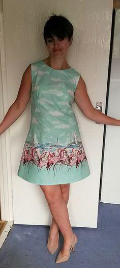 Vicki's Flamingo print Francoise dress!