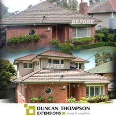 Before & after double storey extension | red brick house in Melbourne | Duncan Thompson Extensions