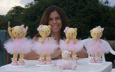 Ursas bailarinas para mesa de festa ou decoração. 100% artesanal.