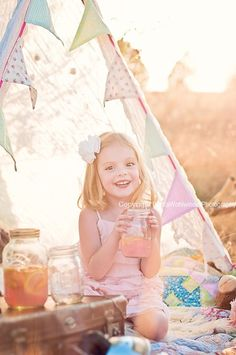 campers, buntings, tee pee kids, camps, pink lemonade, tent photo prop, photo shoots, banners, picnic