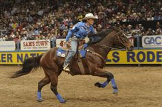Mary Walker  , Dec. 15, 2012 - Barrel Racer Mary Walker wins the 2012 World Championship at the 2012 Wrangler NFR. Photo courtesy of PRCA, photo credit Mike Copeman, 2012
