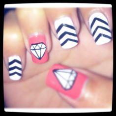 diamonds. by maricelllaaa - Nail Art Gallery nailartgallery.nailsmag.com by Nails Magazine www.nailsmag.com #nailart