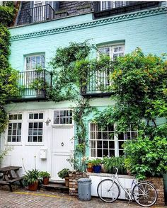 Minty fresh and ready for the weekend from by Beautiful Gardens, Beautiful Homes, Home Comforts, Carriage House, Great Britain, My House, London, Mansions