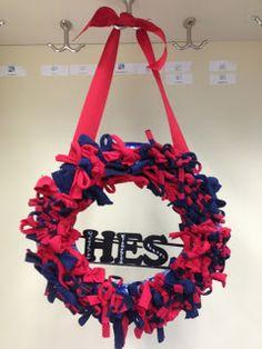 DIY School Pride Rag Wreath