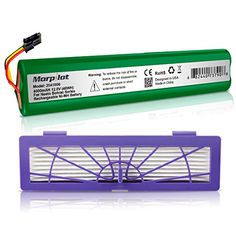 Morpilot 4000mAh Extended NiMh Battery with HEPA Fliter for Neato Botvac Series and Botvac D Series Robots Botvac 70e, 75, 80, 85 Robotic Vacuum Cleaner 945-0129 945-0174 - Features:CE certified and tested by manufacturer to match the OEM products. 4000mAh high capacity, which will run your robotic vacuum cleaners to work for a longer time when fully charged. Compatible with the original charger or adapter. Specifications: Battery Type: Ni-MH Voltage: 12V Capacity: ...