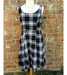 NWT Torrid Checked Skater Plus Dress Size 00 Textured Plaid Black & White Dress | Clothing, Shoes & Accessories, Women's Clothing, Dresses | eBay!