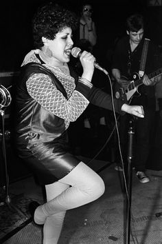 Poly Styrene with X-Ray Spex at The Roxy, London 1977. Photo by Derek Ridgers.