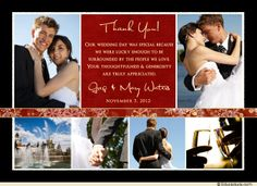 Winter Newlyweds Thank You Collage Card