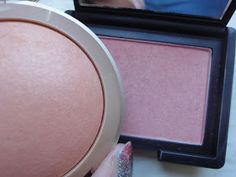 Brightest Bulb In the Box: Beauty for Critical Minds: Drugstore Dupes to the Test: Nars Orgasm vs. Milani Luminoso: my take on it--> the luminous may have been close to nars orgasm but it doesn't seem the new replacement shade if the luminoso is nearly as close a match