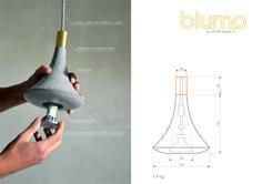 """""""Blump"""" concrete lamp with metal neck Concrete Lamp, Concrete Design, Save Energy, Different Colors, Bulb, Led, Stone, Metal, Rock"""