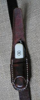 Pocket knife belt sheath