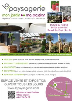 www.lapaysagerie.com Flyers, Gardens, Olive Tree, Shrub, Posters, Ruffles, Leaflets