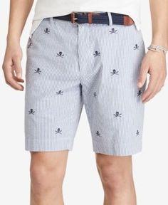 Polo Ralph Lauren Men's Stretch Classic-Fit Seersucker Shorts - Navy 31
