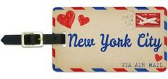 New York City Air Mail Luggage Tag