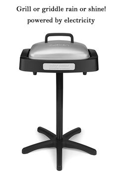 Grill or griddle rain or shine! The Indoor Outdoor Griddler brings convenience and versatility to both table and patio. Wake up to pancakes and bacon in the kitchen. End the day grilling steaks outdoors. Temperatures range from 200 degrees F to 400 degrees F to provide unlimited menu options. And with 180 square inches of grill and griddle, there's enough cooking surface to feed the whole family. A dishwasher-safe plate and an integrated drip tray make cleanup a snap. And because the Indoor Outd Indoor Outdoor Grill, Pancakes And Bacon, Drip Tray, How To Grill Steak, Specialty Appliances, Small Kitchen Appliances, Cooking Utensils, Steaks, Grilling