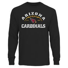 Arizona Cardinals Pro Line Duval II Big & Tall Long Sleeve T-Shirt - Black