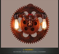 Fashion Style Gear Industrial LightingWith the cheap price and unqiue desgin, Quality unique Gear Industrial Lighting are available at wholesale price. Wall Fixtures, Wall Sconces, Copper Wall Light, Steampunk Furniture, Wall Lights, Ceiling Lights, Led Wall Lamp, Industrial Lighting, Antique Copper