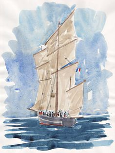 Ship in Morbihan Bretagne original watercolor painting Brittany french art french originla painting landscape painting original french art #watercolor #OriginalWallArt #OriginalFrenchArt #FrenchArt #SeaLandscapeArt #FrenchWatercolor #FrenchPainting #BrittanyArt #LandscapeWallDecor #WatercolorPainting