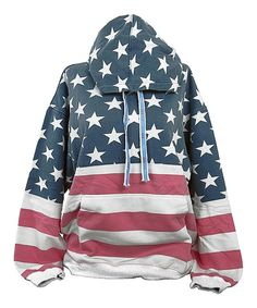 Isaac's designs Red & Blue USA Vintage-Look Pullover Hoodie - Plus Too by Isaac's designs #zulily #zulilyfinds