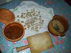 simply Apulian: home made orecchiette e cavatelli pasta, white beans ftom Altamura, home made tomato sauce, Apulian coratina EVO will be added later and... buon appetito
