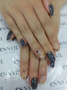 Nail Art - Nail Salon blog ~ AmebaGG daily es nail ... | image of autumn colors × bijou French nail ♪